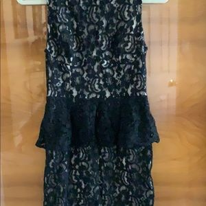 Black lace Bebe dress